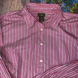 L.L.Bean Classic Women's Oxford Style Shirt Large